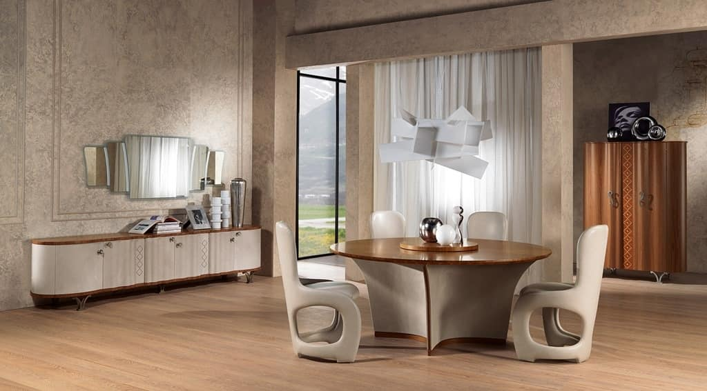 SP33 Mistral mirror, Mirror with frame in contemporary style