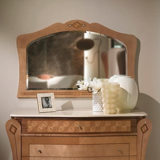 SP35 Charme mirror, Mirror with inlaid frame