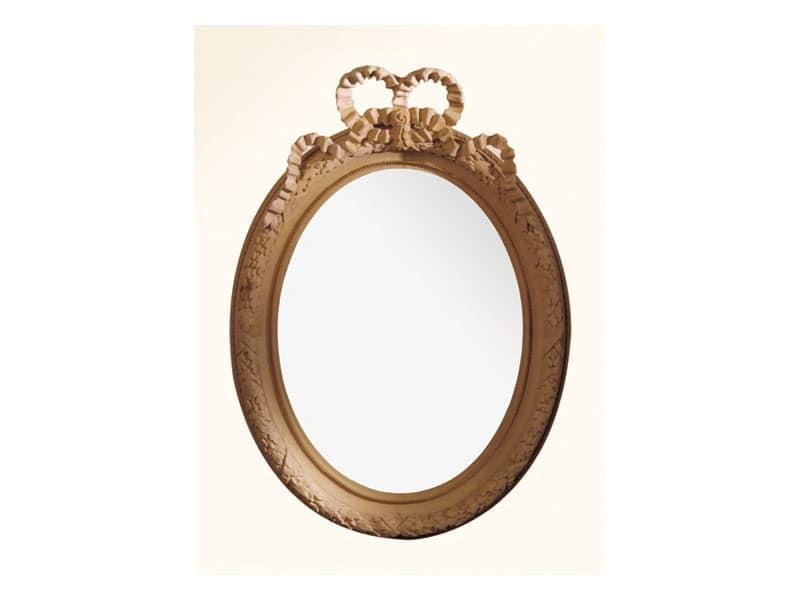 Wall Mirror art. 103, Mirror with wooden frame, Louis XVI Style
