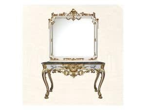 Wall Mirror art. 117/b, Square mirror, Louis XV Style