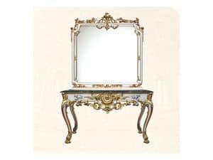 Wall Mirror art. 117/b, Square mirror, Louis XV Style