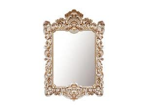 Wall Mirror art. 168, Rectangular mirror with frame, baroque style