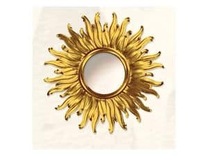 Wall Mirror art. Big Light, Large mirror with sun shape, gold finishings