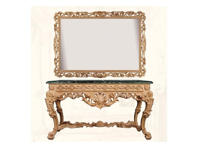 Wall Mirror art. Impero, Horizontal and rectangular mirror, with frame