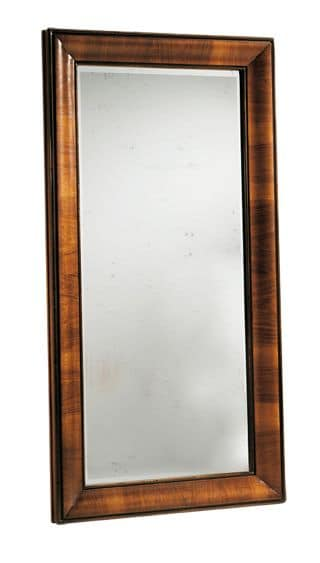Warhol RA.0834, Walnut mirror with shaped frame with folder in walnut and patinated 4 mm mirror