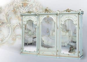 508, Classic wardrobe white lacquered, with mirror