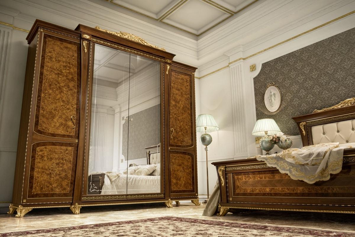 Aida wardrobe, Classic wardrobe with precious workmanship