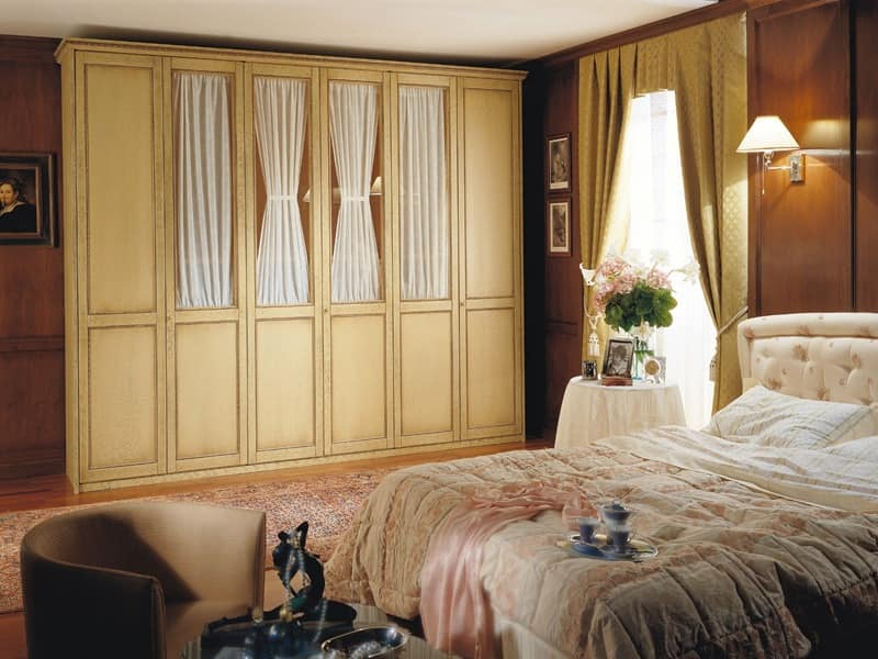 Appunti di Viaggio 4, Large wardrobe, six hinged doors, for classic style bedrooms
