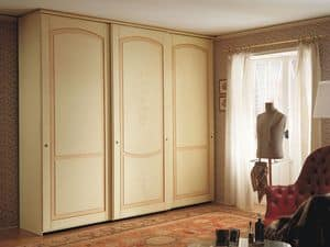 Appunti di Viaggio 5, Wardrobe with sliding doors, classic design, finishing tempera decapé