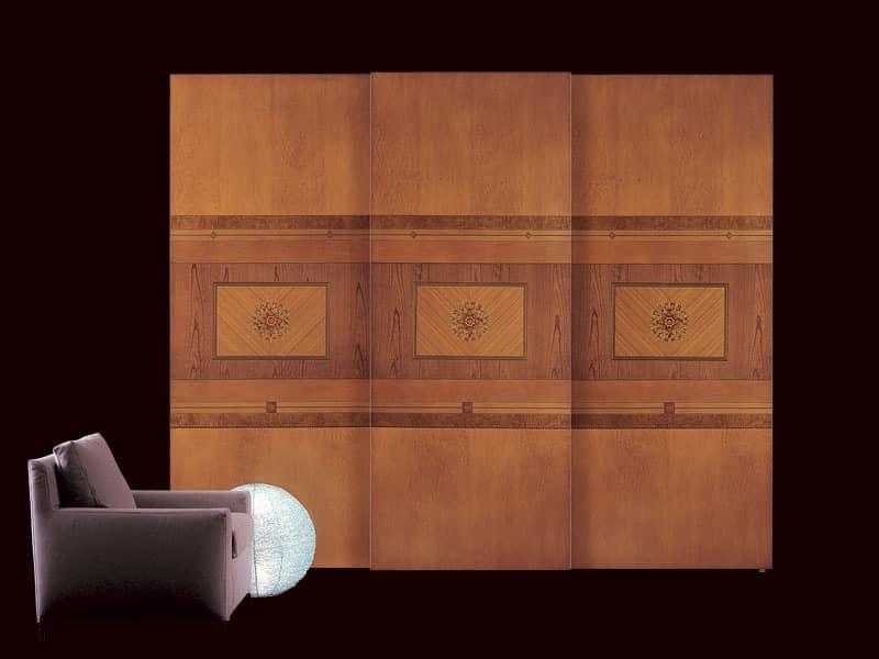 AR09 Floreale wardrobe, Classic wardrobe with sliding doors, interior lighting