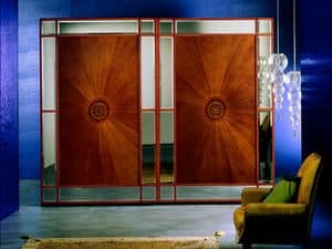 AR10 Arte, Classic wardrobe with cut glass, sliding doors