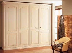 Art. 1100 Norma, Wardrobe in wood, handcrafted, for luxury villas