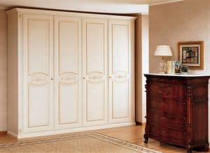 Art. 1120 Flora, Luxurious wardrobe, built completely of honeycomb, for bedroom