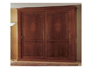 Art. 2004/279 '800 Francese Luigi Filippo, Wooden wardrobe, a classic piece of furniture for the bedroom