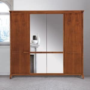 Art. 320 wardrobe, Wardrobe in classic style, with mirror