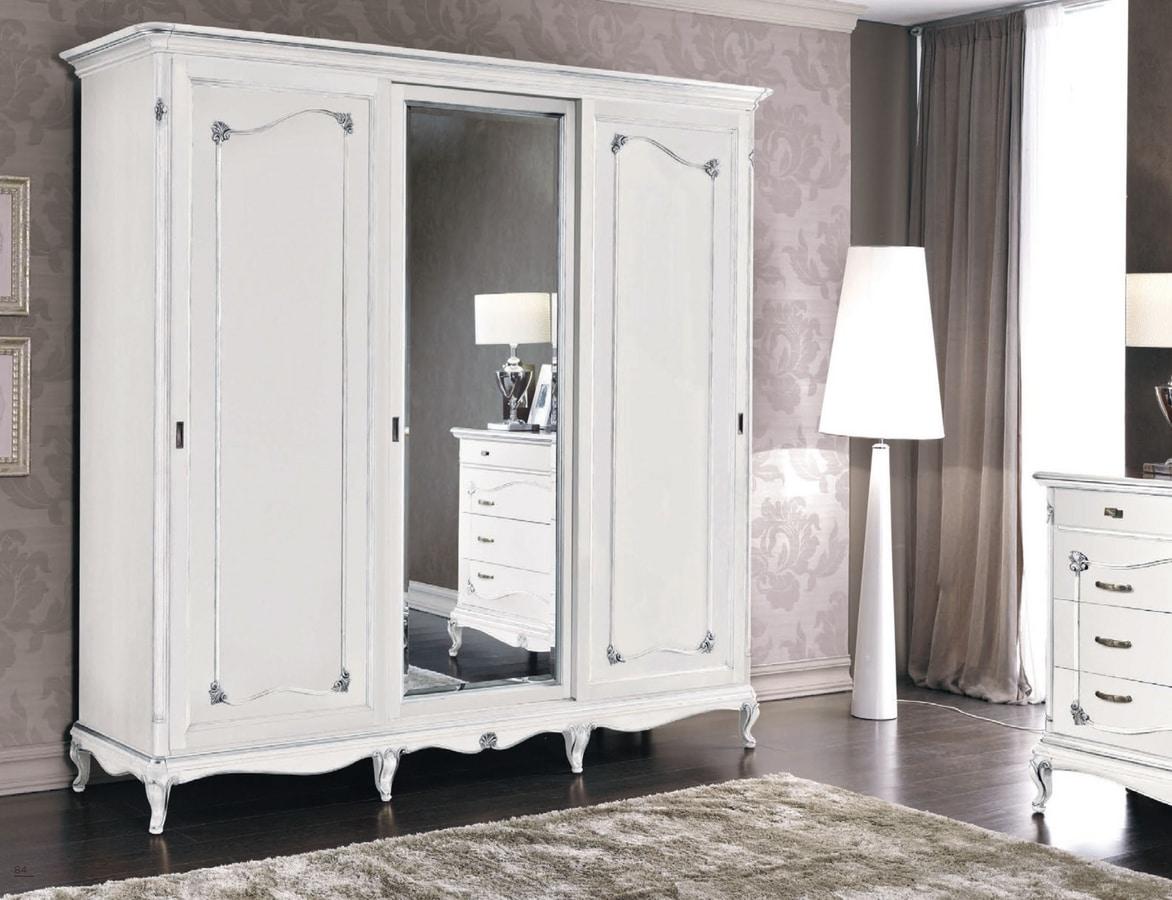 Art. 3272, Classic wardrobe, white lacquered