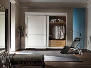 Art. CA717, Wardrobe with 2 sliding doors, in luxurious style