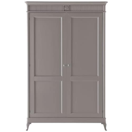 Art. CA719, Wardrobe with 2 hinged doors, with floral carving
