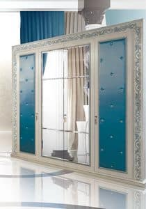 Camelia C/597/2, Classic luxury Wardrobe in hand carved wood