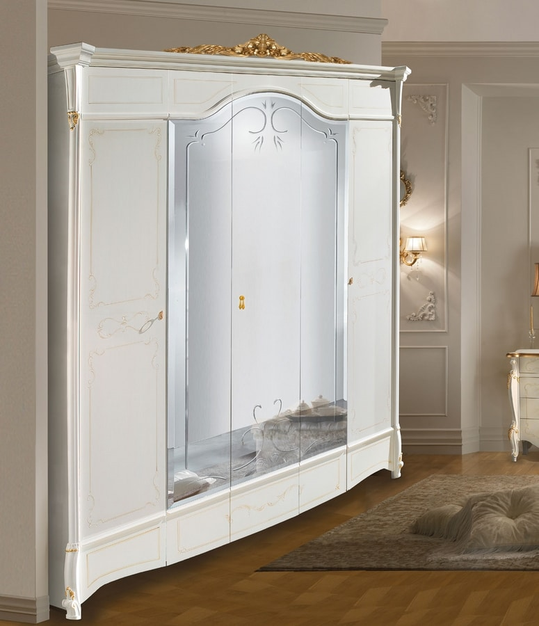 Diamante Art. 2514 - 2515, Classic style wardrobe, with mirrors