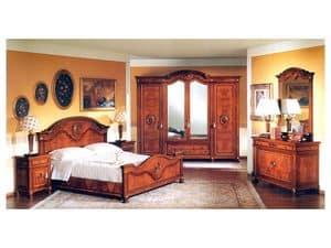 DUCALE DUCSP / Wardrobe with 4 doors, Wooden wardrobe with mirror doors, for bedroom