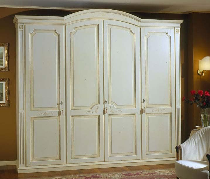 Elios wardrobe, Wardrobe in wood with shelves and drawers