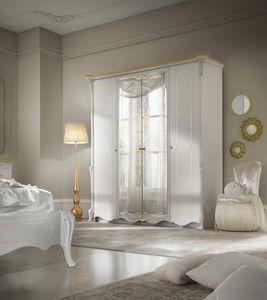 Giulietta Art. 3315 - 3415, Elegant white lacquered wardrobe