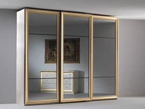Jolie wardrobe, Elegant wardrobe, three mirrored sliding doors, for the bedroom