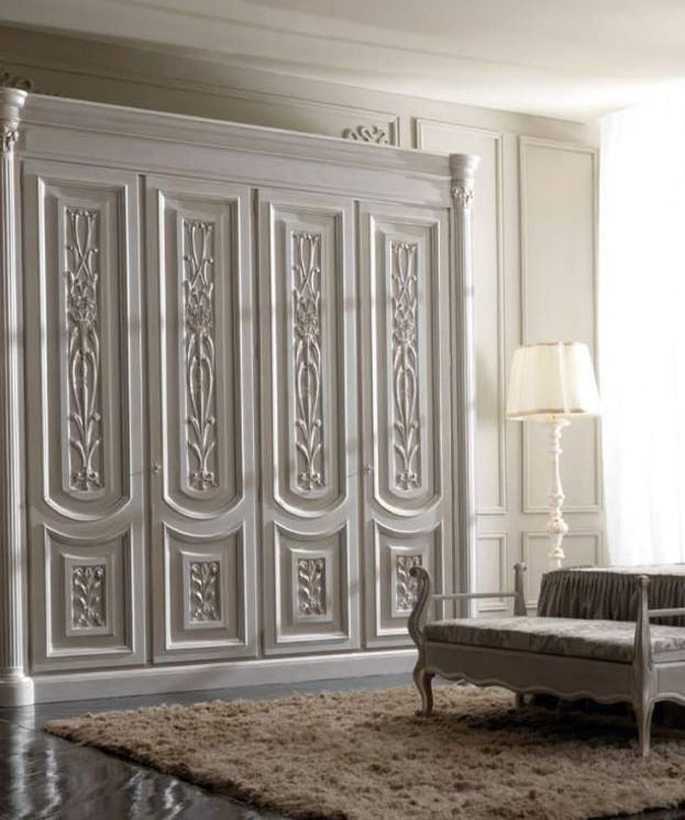 Luigi XVI Art. AR01/L/250, Light wood wardrobe, for classic style bedrooms