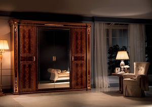 Modigliani 4 doors wardrobe, Empire style wardrobe
