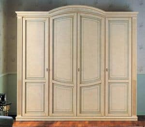Nettuno wardrobe, Wardrobe in classic luxury style, for hotel and home