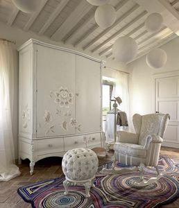 Olga wardrobe, Hand painted wardrobe