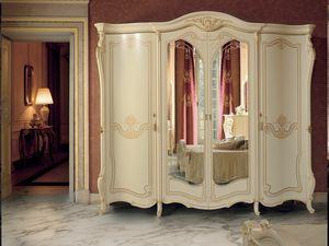 Opera wardrobe, Classic style wardrobe with mirror