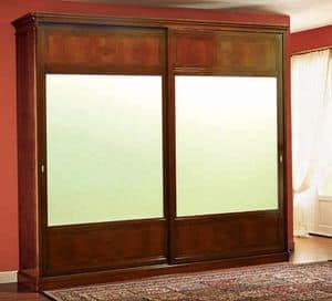 Opera wardrobe sliding doors, Classic wardrobe with sliding doors made of walnut