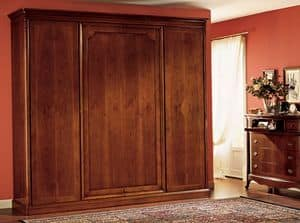 Opera wardrobe wood door, Wardrobe with 4 doors, in paneled wood