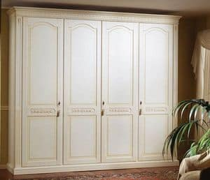 Pictor wardrobe, Decorated wooden wardrobe, for Bedroom