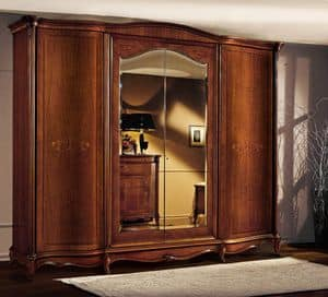Roma cabinet with curved doors, Wooden cabinet with curved doors, in luxurious classical style
