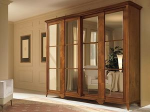 Salieri wardrobe, Wardrobe with mirrored sliding doors