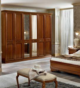 Torriani wardrobe, Classic wardrobe, walnut or ivory finish