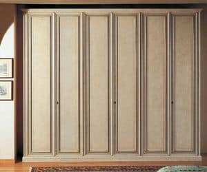 Venere wardrobe, Classic wardrobe with inside part in Tanganyika walnut