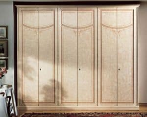 Vesta wardrobe, Luxury Wardrobe in lacquered wood with 6 doors