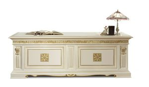 4057F, Luxurious writing desk with leather top