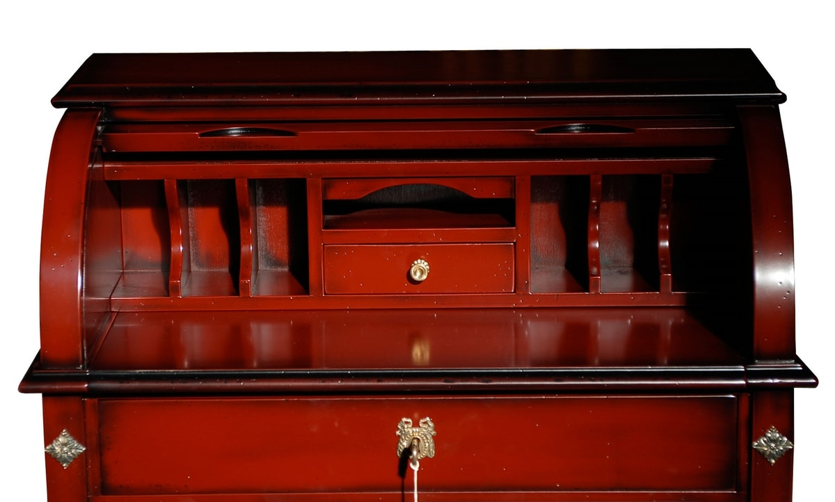 Andrea FA.0041, Roller desk with a drawer, in Louis XVI style