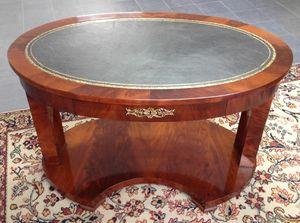 Art. 1020/MO Le Mans, Oval desk, in mahogany