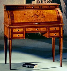 Art. 164/FI Fiori, Inlaid  roll top secretary desk