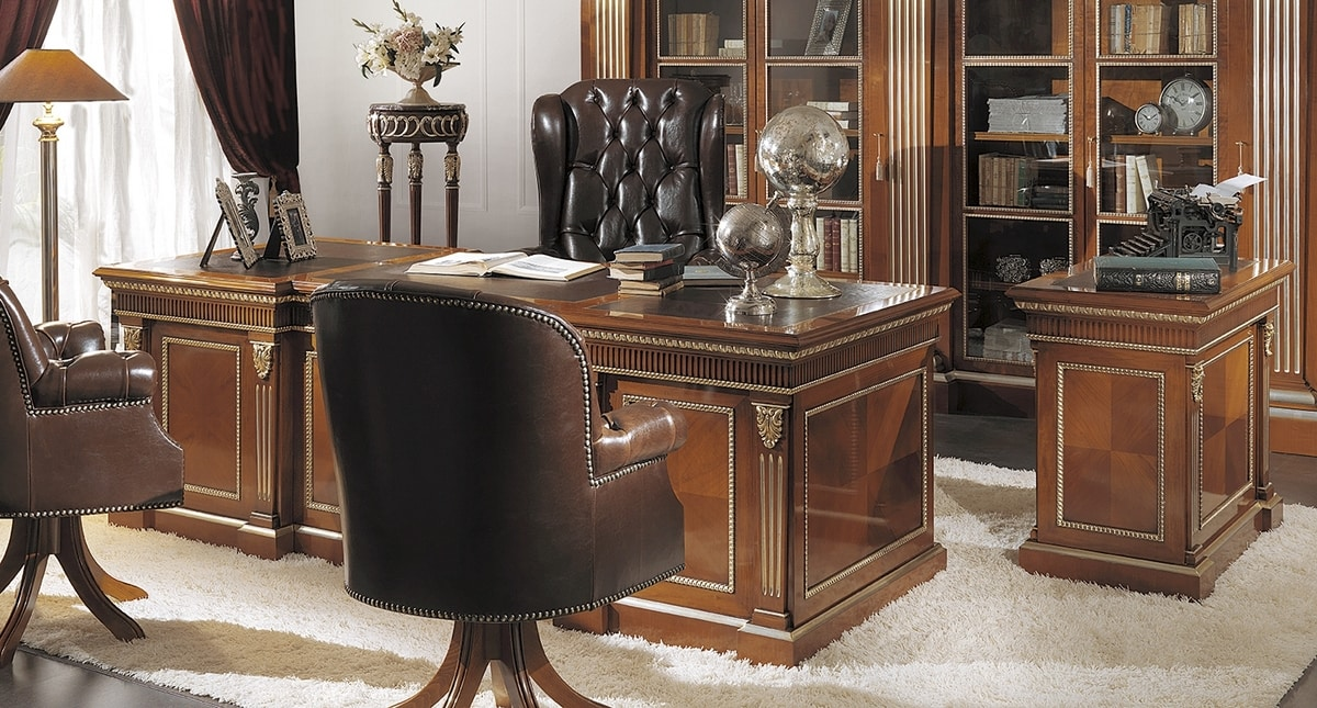 ART. 2543, Classic cherry wood desk