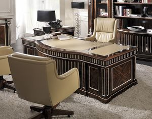 ART. 2941, Office desk with leather top