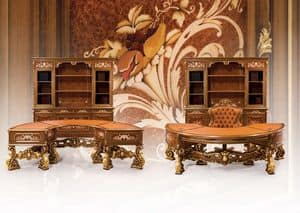 Composition Art.6930, Classic furniture, office, magnificent carvings, fine materials