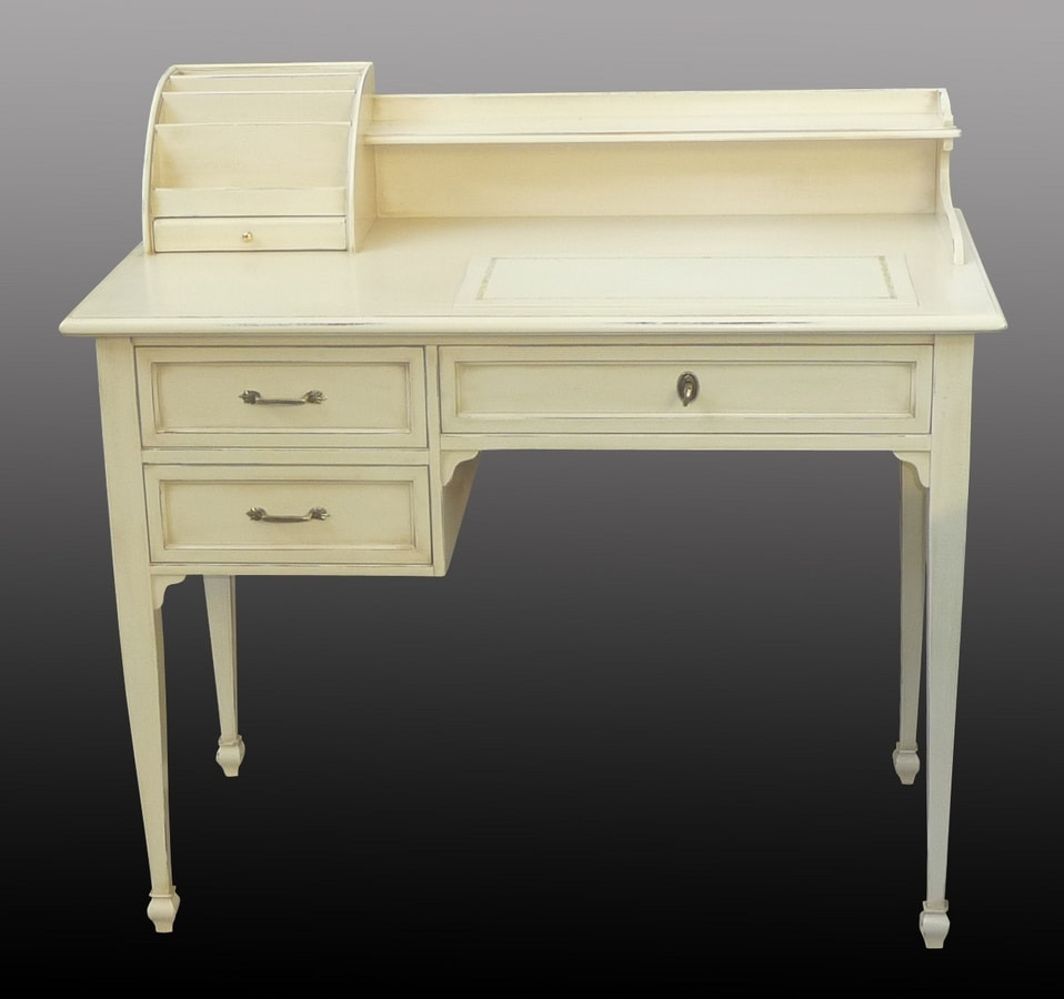 Delia FA.0036, Writing desk with riser and three drawers