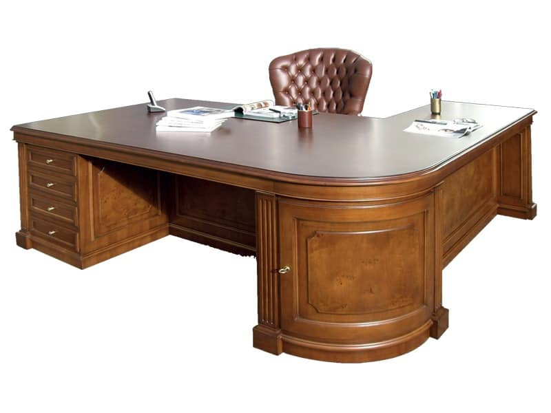 Wooden office desk made to measure idfdesign for Schreibtisch cambridge